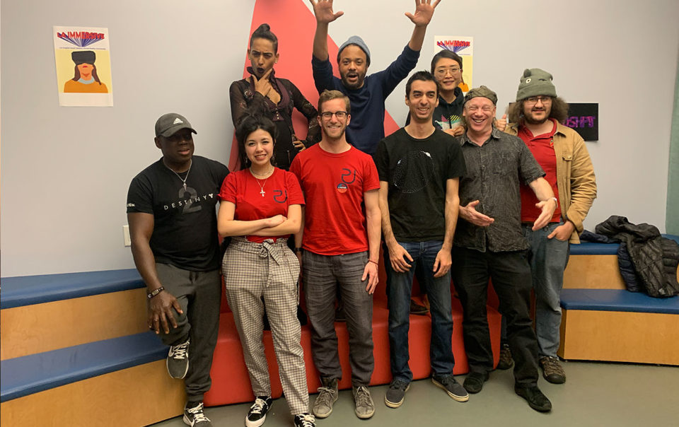 All the attendees of Moshpit & LA Immersive meetup